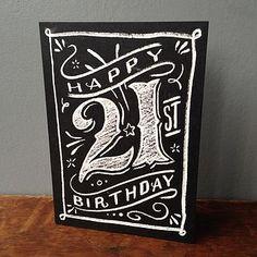 21st chalkboard birthday