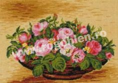 Cod produs 7.03 Cos cu trandafiri Culori: 19 Dimensiune: 14 x 19cm Pret: 35.71 lei