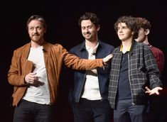 James McAvoy, Andy Bean, and Jack Dylan Grazer speak onstage at. James Mcavoy, Jessica Chastain, It Movie Cast, It Cast, Crush Facts, It The Clown Movie, Scottish Actors, Bad Friends, King Book