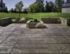 flagstone stamped concrete gallery - decorative and stamped ... - Stamped Patio Designs