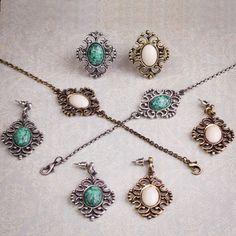 Aquele mix Vintage Boho que todo mundo ama <3! #boho #vintage #amomuito #acessorios #pulseira #anel #brinco #pedra #turquesa #marfim