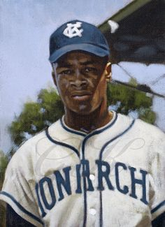 """""""A color study of Elston Howard with the Kansas City Monarchs in This is one of 200 paintings of mine that will be on display at the Negro Leagues Baseball Museum in the spring of Baseball Art, Baseball Players, Elston Howard, Negro League Baseball, Diamonds In The Sky, Color Studies, Major League, Dodgers, Kansas City"""