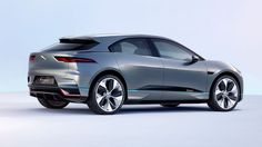 The rear view of the concept i-Pace. Jaguar claim the car to dramatic acceleration and a range of over 200 miles.