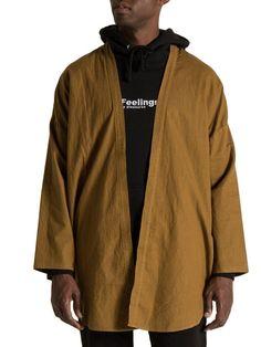 haori kimono jacket in coffee - PROSPECTIVE FLOW  - 1