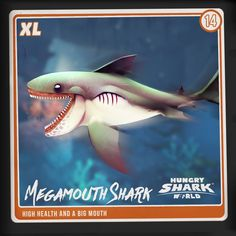 There's always that ONE guy with the big mouth yet you kind of love him.  Meet Megamouth. Your #Sharkarium collection is nearly complete!