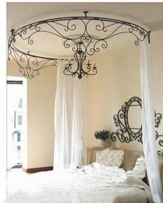 Ceiling mounted iron canopy. Lundyu0027s can fabricate any custom idea you ...  sc 1 st  Pinterest & Decormetals - Canopies and Awnings | Custom Iron Canopies | Pinterest