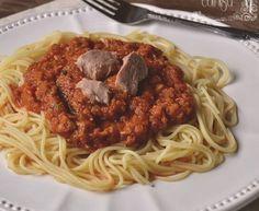 Espaguetis con atún (Thermomix)