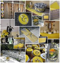 Our lovely gray and yellow engagement party