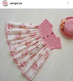 IG ~ @sevgul.ce ~ crochet yoke for girl's dress