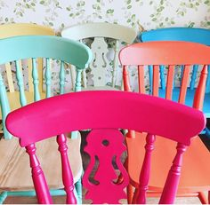 A personal favourite from my Etsy shop https://www.etsy.com/uk/listing/517365857/painted-chairs-vintage-painted
