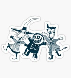 Nightmare Before Christmas Stickers Geek Wallpaper, Halloween Wallpaper Iphone, Stickers Cool, Red Bubble Stickers, Laptop Stickers, Halloween Stickers, Christmas Stickers, Jack Skellington, Estilo Tim Burton