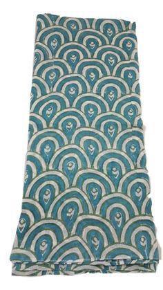 Passion Lilie print cotton scarf