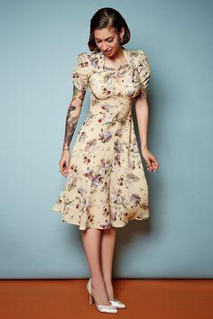 The Floral Sweetheart Dress - Yellow | Tara Starlet