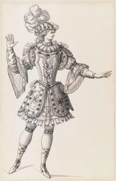 ANONYME FRANCAIS Ecole française  Costumes des Fêtes, Mascarades. Théâtres, etc., de Louis XIV  2419 DR/ Recto  Réserve Edmond de Rothschild Recueil de dessins : Costumes des Fêtes, Mascarades. Théâtres, etc., de Louis XIV - Tome IX - 2396 DR à 2504 DRhttp://arts-graphiques.louvre.fr/detail/oeuvres/83/554640-Costumes-des-Fetes-Mascarades-Theatres-etc-de-Louis-XIV-max