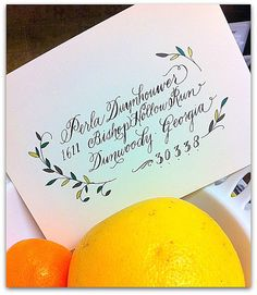 Bespoke Painted Envelopes with Calligraphy by myrtle & lloyd