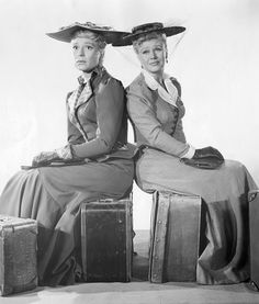 Ginger Rogers and Carol Channing in The First Traveling Saleslady RKO's comedy drama of the 1890's Barry Nelson David Brian and James Arness also...