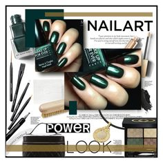 """""""#nailedit - green"""" by stylemeup-649 ❤ liked on Polyvore featuring beauty, Butter London, Burberry, Urban Decay, MAKE UP FOR EVER, Gucci, Chanel and Bulgari"""