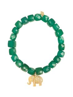 Sydney Evan 14k Yellow Gold and Diamond Elephant Bead Bracelet at London Jewelers!