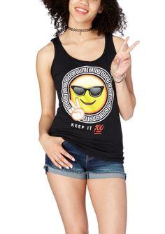 Keep It 100 Greek Emoji Tank | Emoji | rue21