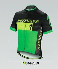 MAILLOT SPECIALIZED RBX  COMP LOGO NEON YELLOW