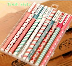Cute stationery set of 10 color gel pens for DIY scrapbook, painting, drawing, writing, sign on Etsy, $8.00