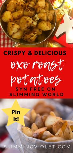 Try these Oxo roast potatoes with your Sunday lunch - they're Syn free on Slimming World, and you can make them in the Actifry or the oven. Actifry Recipes Slimming World, Slimming World Recipes Syn Free, Slimming World Roast Potatoes, Roasted Potato Recipes, Great Recipes, Healthy Recipes, Air Fryer Dinner Recipes, Main Meals, Food Inspiration