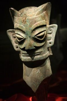 A 3,000-year-old bronze statue found in the village of Sanxingdui, China. (Shutterstock)