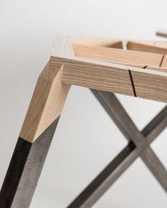 Projet étudiant : Le bureau cintré par Jean-Loïc Ravasseau #furniture #design #joints