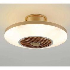 con control remoto Ventilador de techo con l/ámpara 3 Velocidades 3 colores regulables Ventilador de techo con luces LED Color : Pink 36W L/ámpara de techo para sala de estar del dormitorio