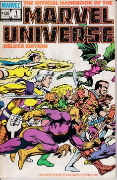 Official Handbook Marvel Universe Deluxe Ed 1985-88 by ViewObscura