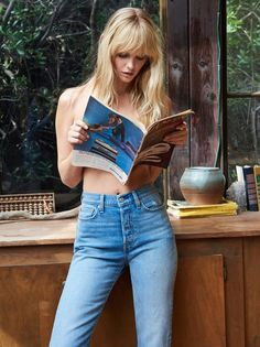 Levi's Wedgie Straight Jean | In Levi's authentic ridged denim, these high-rise jeans are fitted through the hips and thighs. * Cropped length with a frayed hem. * Button fly. * Five-pocket style.