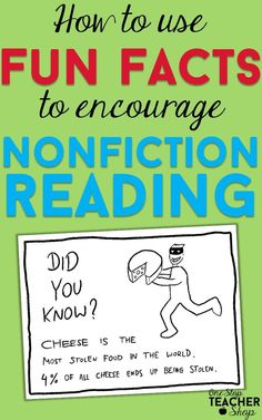 Get your students reading more nonfiction with this Fun Fact Friday. Come see how I use fun facts in my classroom, and grab the freebie. Nonfiction reading just got more interesting!
