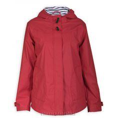 Chubasquero chaqueta náutica poliuretano de mujer, forrado en algodon.