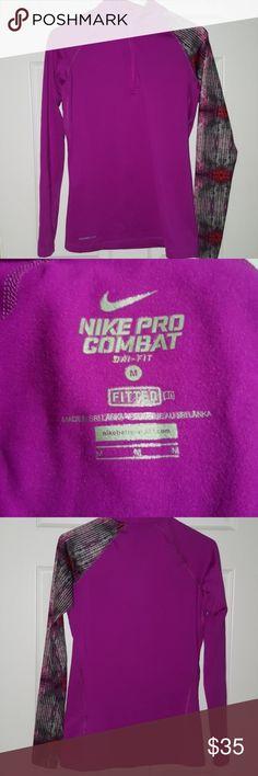 Nike Pro Quarter Zip Nike Pro Combat quarter zip. Excellent condition, no wears, tears, holes, rips. Run/train in style, PET FREE & SMOKE FREE HOME Nike Tops Sweatshirts & Hoodies