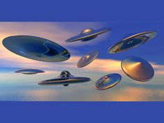 Flying Saucers classic shape form UFO, (.br4, .obp) Bryce software ...