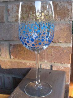 painting on wine glasses