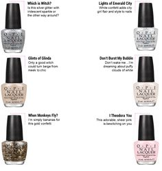 OPI Collection for Disney's Oz the Great and Powerful... I like the glitters!