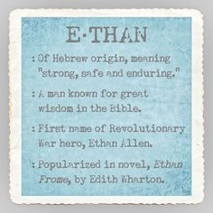 Name Ethan Meaning by Graffitee Studios 12x12 Kids Art Print Poster