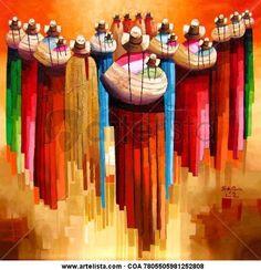 Peruanos en dilema. Peruvian Art, Inca Tattoo, Aztec Warrior, Square Canvas, Abstract Painters, Whimsical Art, Figure Painting, Art Lessons, Fiber Art