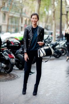 0dc0d1f38b50 Liu Wen Street Style phototag All Black Fashion
