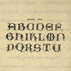 Printable Image Ancient Alphabet Graphic by VintageRetroAntique