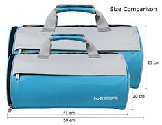 MIER Barrel Sports Bag Small Gym Bag with Shoes Compartment for Men and Women, 2 Size Duffel Bag, Small Bags, Barrel, Gym Bag, Workout, Orange, Amazon, Sports, Women