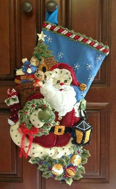 Vintage Christmas, Christmas Diy, Felt Stocking, Show And Tell, Felt Crafts, Needle Felting, Christmas Stockings, Quilting, Baby Shower