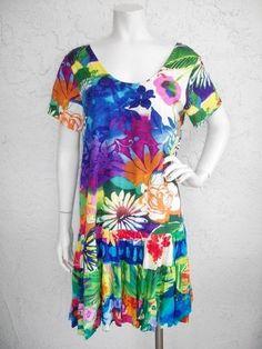 "Jams World Hattie Dress M ""Amethyst"" Rayon Tunic Sz Medium | eBay"