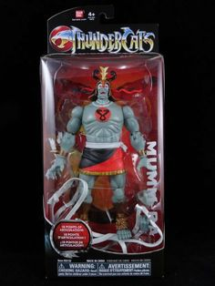 "Thundercats 6"" Mumm-Ra Collector Figure by ThunderCats. $16.22. Mumm-Ra stands tall at 6"" with high detail and color. Flashback to the 80's iconic and classic heroes and villains of ThunderCats. Mumm-Ra is the essence of evil, a supreme sorcerer whose name alone strikes fear into the hearts of all. He has up to 18 points of articulation. From the Manufacturer                The new ThunderCats animated series is a sweeping tale that combines swords and science and b..."