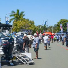 There were more than 600 boats on display on both land and in the water