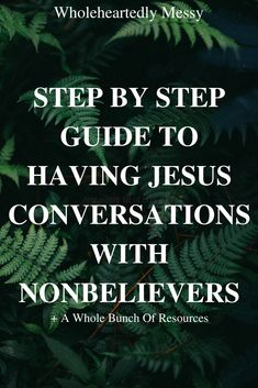 Ew, conversations. Ew, talking to people. Ew, having to wear pants to go outside to talk to people. All the introverts in the house, can I get an AMEN? (for reals, scroll down and comment an AMEN)  Let's be real. Talking to people is hard, especially spiritual topics that may or may not affect someo