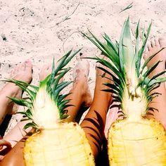 Beach + Pinapple = Perfection.
