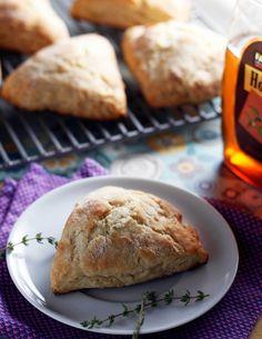 thyme honey scones   withloveandcupcakes.com