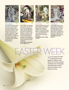 Stand & Shine Magazine: Studying Easter Week
